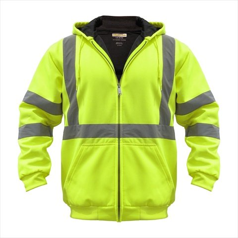 UPC 809706102571, Utility Pro Wear UHV425-2X-YB High Visibility Hooded Soft Shell Class 3 - XXLarge, Black-Yellow