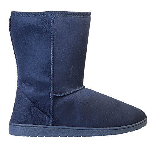 Navy Dawgs Womens 9 Inch Shearling Microfiber Vegan Boots Winter Faux rzrqdTwf4