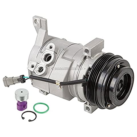 Brand New AC Compressor & A/C Clutch For Chevy GMC Cadillac And Hummer - BuyAutoParts 60-01588NA (Compressor Air Conditioning)
