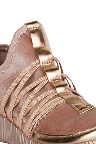 Hadari Womens Lichtgewicht Flyknit Platform Fashion Sneakers