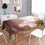 Auraisehome Water Resistant Tablecloth Female sex Great for Buffet Table, Parties, Holiday Dinner, Wedding & More