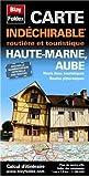 Haute-Marne (52), Aube (10). Carte départementale, routière et touristique