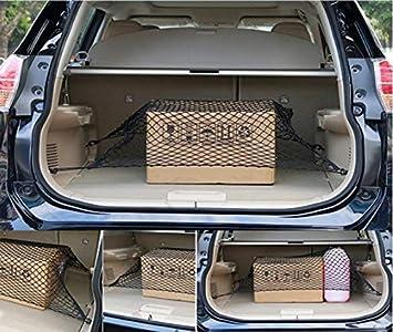 Rete per Bagagliaio Auto 4 Ganci per Volkswagen VW Touareg BEESCLOVER