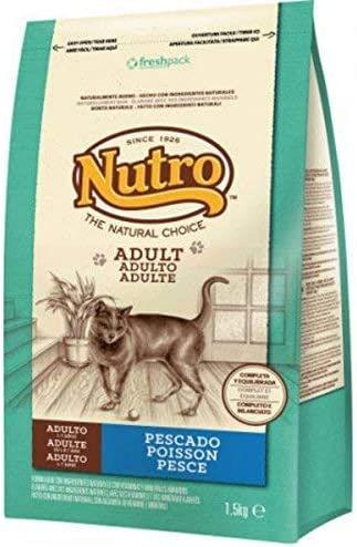 Nutro - Comida para gatos adultos, pescado, 1.5 kg: Amazon.es ...