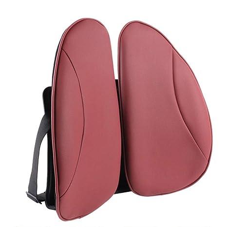 WXCymhy Cojín Lumbar ergonómico Rojo/Cojín Lumbar para ...