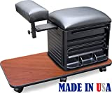 Cheap 2317-CHRY Salon Spa PEDICURE NAIL STATION STOOL w/Footrest Made in USA by Dina Meri