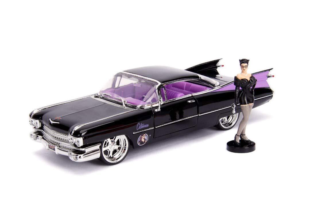Jada Toys 1 24 Bombshells '59 Cadillac diecast Vehicle W Cat Woman Figure