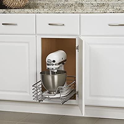 11.5 Inches Wide Household Essentials C1221-1 Glidez Extra Deep Undersink Sliding Organizer Pull Out Cabinet Shelf Chrome