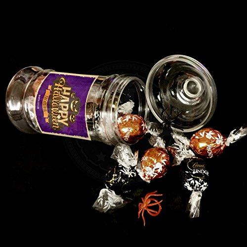 Lindt Happy Halloween Dark And Orange Truffles Treat Box Jar By Moreton -
