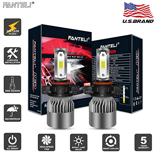 (FANTELI 5202/PSX24W/5200/5201/9009 LED Headlight Bulbs All-in-One Conversion Fog Driving Lights Foglights Kit - 72W 8000LM 6000K Xenon HID Cool White Replacement Extremely Bright - 5 Years Warranty )