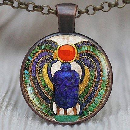 (Egyptian Scarab pendant, ancient egypt jewelry, Egypt necklace, Egyptian jewelry, Scarab Necklace, Scarab Jewelry, Historical pendant, )