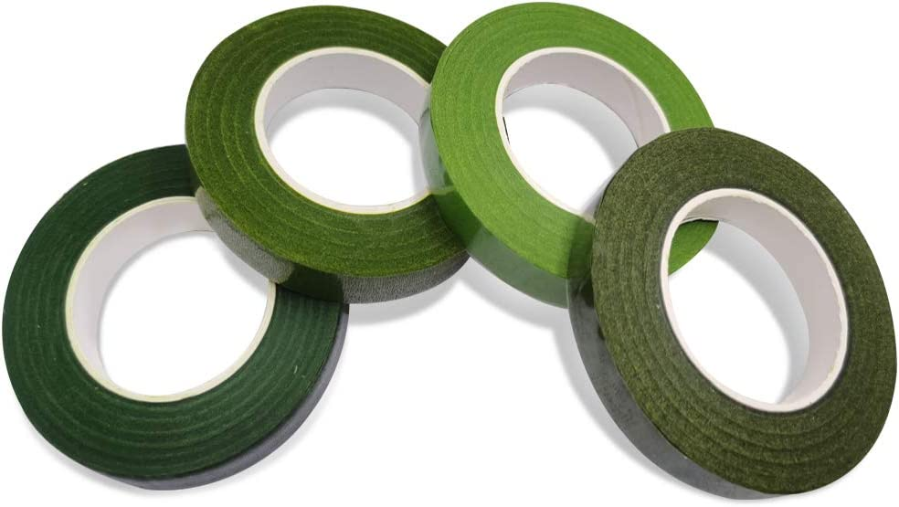 1//2 Wide Green Floral Tapes 4 Pack 30Yard//Roll findTop Floral Tapes for Bouquet Stem Wrapping and Floral Crafts