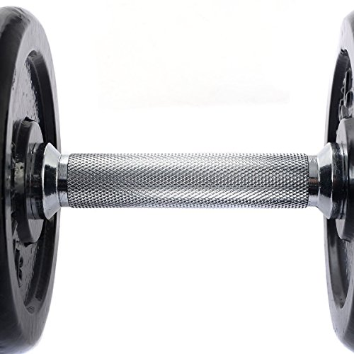 Giantex 66 LB Weight Dumbbell Set Adjustable Cap Gym Barbell Iron Plates Body Workout