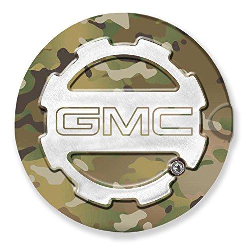 American Brother Designs ABD-1406GMCLGMC Multi Camo Sierra (GMC Logo) Locking Fuel Door Line Grained Two Toned