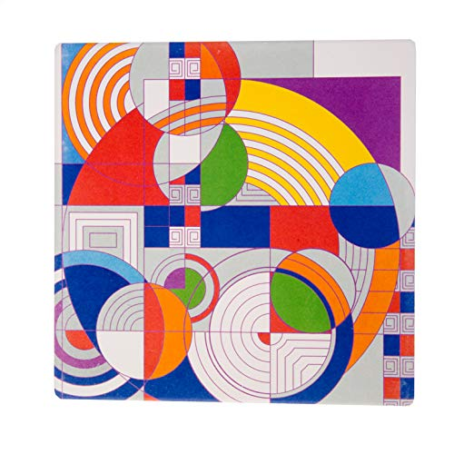 CoasterStone TRSQFLW890 Frank Lloyd Wright Hoffman Rug Trivet, One Size, Multicolored