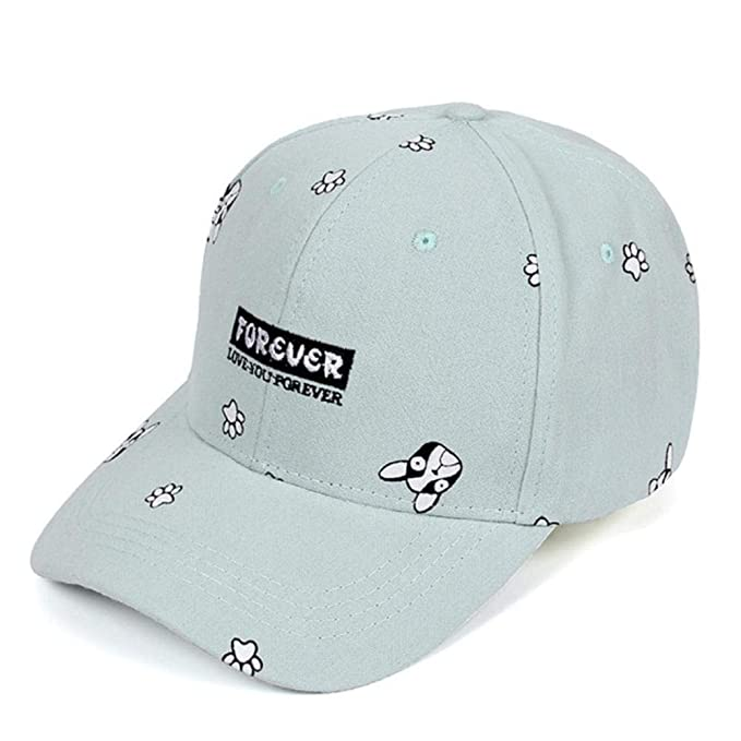 Vivian Inc Summer Baseball Cap Women 2018 Dog Pattern Cute Snapback Hip Hop Caps Hats (Light Blue, 55-61cm) at Amazon Womens Clothing store: