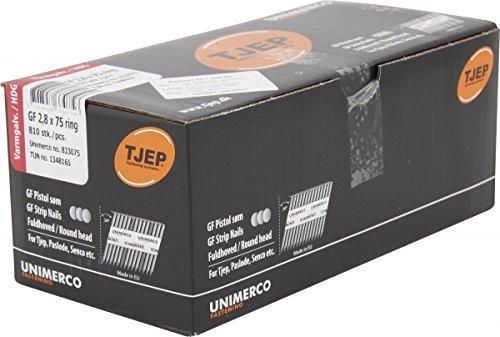 TJEP GF 28/75 Streifennägel 34° Rillen Feuerverzinkt, Handybox