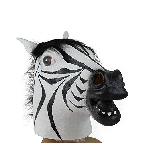 LNtech Latex Zebra Mask, Halloween Animal Masks Zebra