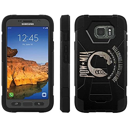 AT&T [Galaxy S7 Active] ShockProof Case [ArmorXtreme] [Black/Black] Hybrid Defender [Kickstand] - [POW MIA Flag] for Samsung Galaxy [S7 Active] Sales