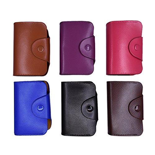 RFID Blocking Genuine Leather Card Case Credit Business Card Holder Mini Card Wallet Case Book