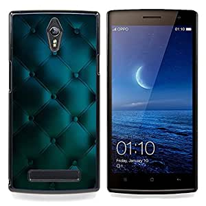- leather blue vibrant diamond pattern/ Duro Snap en el tel??fono celular de la cubierta - Cao - For Oppo Find 7 X9007