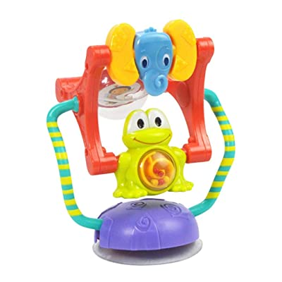 nurrat Baby Cartoon Animal Ferris Wheel Rattle Sucker Toy Intelligence Development Darts: Toys & Games
