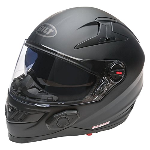 Bilt Techno 2.0 Bluetooth Helmet (XS, Matte Black)