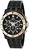 Invicta Men's 6791 ''Pro Diver Collection'' Black Ion-Plated Stainless Steel and Rose Gold-Tone Watch