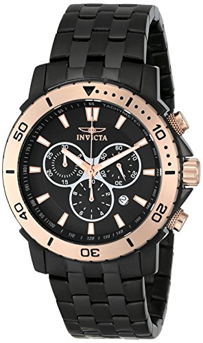Invicta Men's 6791 ''Pro Diver Collection'' Black Ion-Plated Stainless Steel and Rose Gold-Tone Watch by Invicta