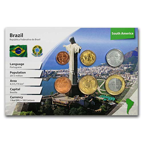 BR 2018 Brazil 1 Centavo - 1 Real 6-Coin Set BU (Landscape Packaging) Brilliant Uncirculated