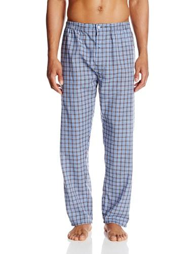 Hanes Men's Long Sleeve Leg Pajama Gift Set,  Blue Plaid,  Large, Blue Plaid, Large
