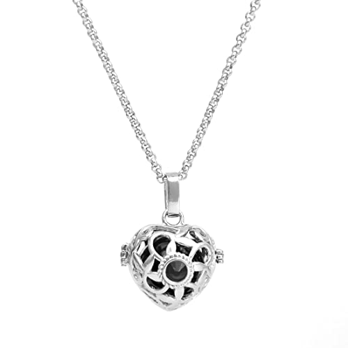 Amazon cute heart angel caller bell harmony ball cages pendant cute heart angel caller bell harmony ball cages pendant mexican bola pregnancy chime necklace 30quot aloadofball Choice Image