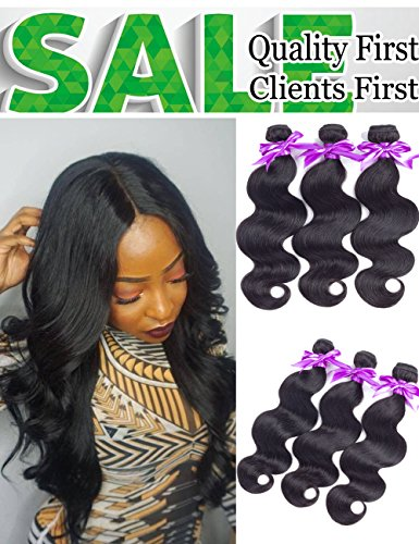 8A Brazilian Virgin Hair Body Wave 100% Human Hair Weave Bundles 3PCS/Lot Unprocessed Hair Weaving Extensions (12 14 16)