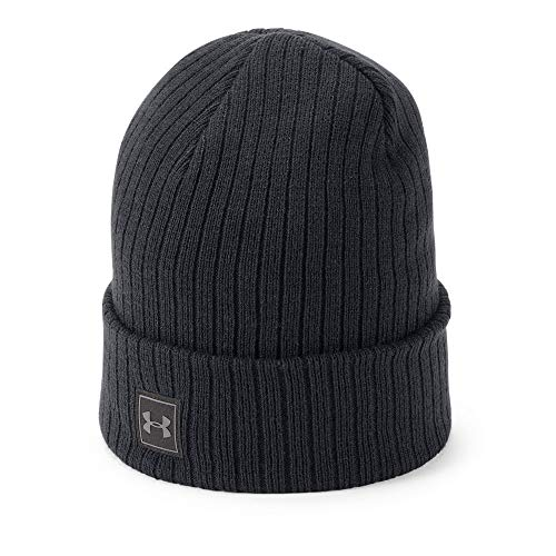 Under Armour Winter Beanie - Under Armour Men's Truckstop Beanie 2.0, Black (001)/Black, One Size