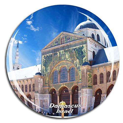 - Umayyad Mosque Damascus Israel Fridge Magnet 3D Crystal Glass Tourist City Travel Souvenir Collection Gift Strong Refrigerator Sticker
