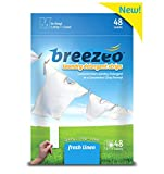 Breezeo Laundry Detergent Strips (Laundry Detergent Sheets), Fresh Linen Scent, 48 Loads – More Convenient than Pods, Pacs, Liquids or Powders – Great for Home, Dorm, Travel, Camping and Hand-Washing