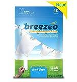 Breezeo Laundry Detergent Strips (Laundry Detergent Sheets), Fresh Linen Scent, 48 Loads – More Convenient Than Pods, Pacs, Liquids Or Powders