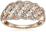 10k Pink Gold Diamond Band Ring (1cttw, I-J Color, I2-I3 Clarity), Size 7