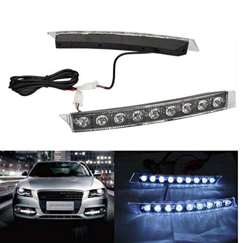 [해외]Alonea 아우디 스타일 9 LED DRL 주간 러닝 라이트 안개 램프 키트 유니버시아/Alonea High Power For Audi style 9 LED DRL Daytime Running Light Fog la