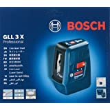 Bosch GLL 3X Professional Cross Line Laser level with 3 lines by Bosch Professional