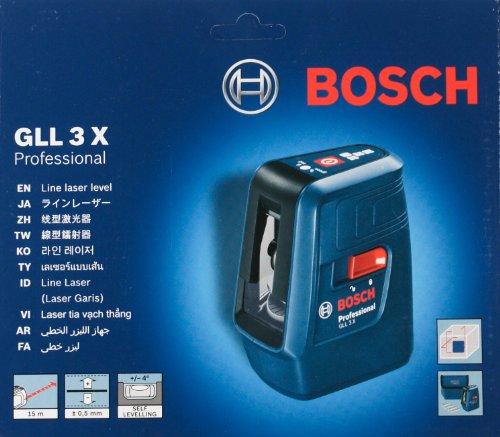 Bosch GLL 3X Professional Kreuzlinienlaser Wasserwaage mit 3 Linien