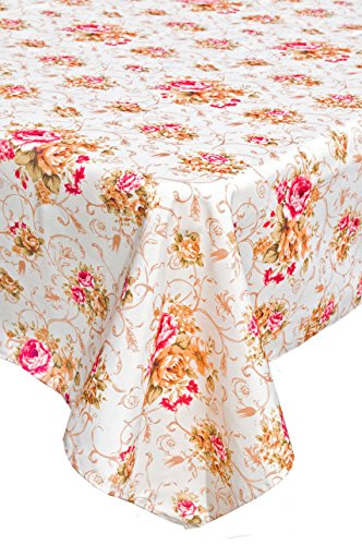Korway thick heavy flower flora fabric patterns tablecloths Square 55