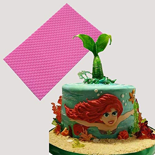 Cake Molds - Diy Mermaid Fish Scale Lace Mat Fondant Cake Border Decorating Texture Silicone Molds Baking - Aluminum Numbers Lace Bundt Shower Decorating Kids Flowers Alphabet Cake Ring Let