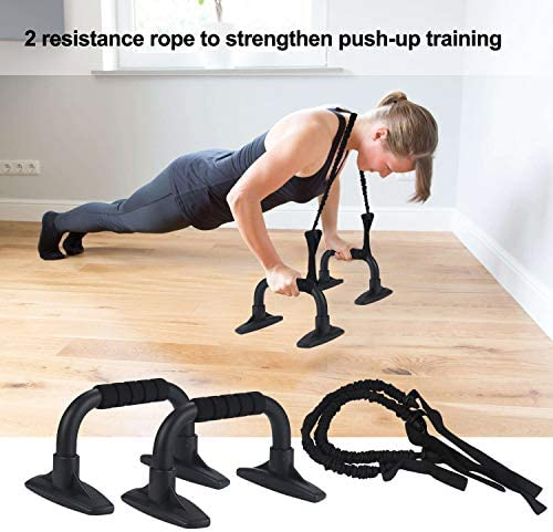 EnterSports Ab Roller Wheel, 6-in-1 Ab Roller Kit with Knee Pad, Resistance Bands, Pad Push Up Bars Handles Grips, Perfect Home Gym Equipment for Men Women Abdominal Exercise 3