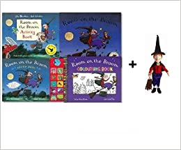 Room on The Broom 4 Books Collection With Room on The Broom Witch with Broom Toy, Room On the Broom, Colouring Book, Activity Book and HardBook Sound Book: Amazon.es: Julia Donaldson: Libros