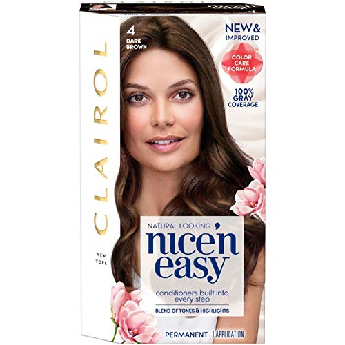 Clairol Nice'N Easy  Original  4 Dark Brown (Pack of 3) packaging may vary