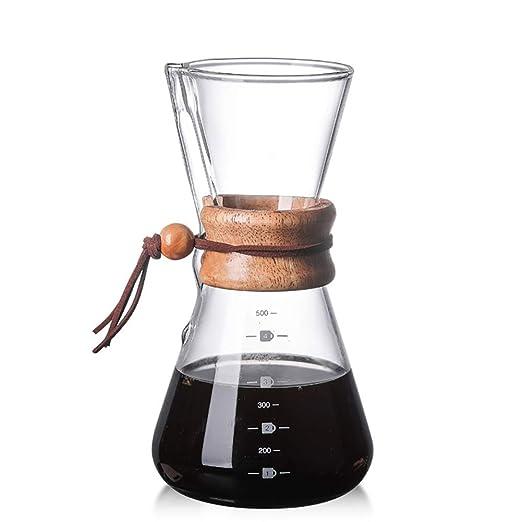 KAFEIHU Cafetera de Mano de Vidrio de Alta Temperatura de ...