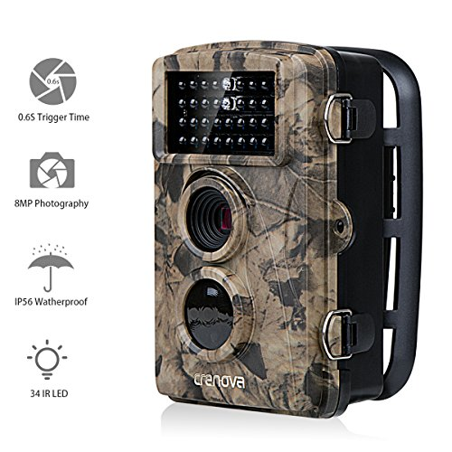 Crenova Game and Trail Camera 12MP 1080P HD With Time Lapse 65ft 120° Wide Angle Infrared Night Vision 42pcs IR LEDs 2.4″ LCD Screen Scouting Camera Deer Camera
