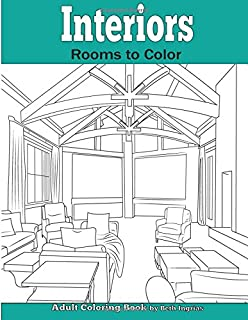 Interiors Rooms To Color An Adult Coloring Book