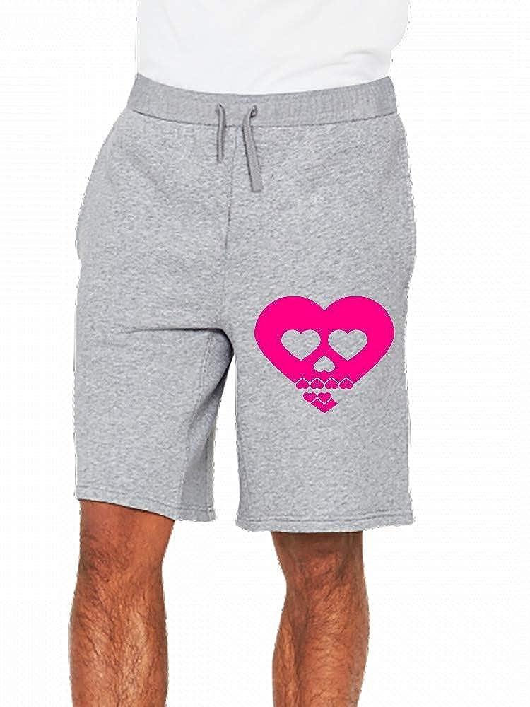 JiJingHeWang Herzschaedel Mens Casual Shorts Pants